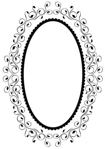 Ембосинг папка - Oval Frame 1