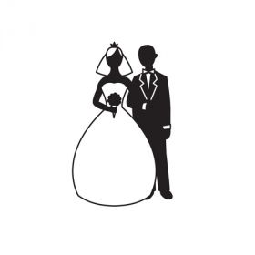 Ембосинг папка - Bride and Groom Silhouette