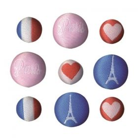 Копчета -Love PARIS - 9 бр