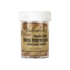 "Ембосинг пудра ""Stampendous"" -Deep Impression Chunky Gold"