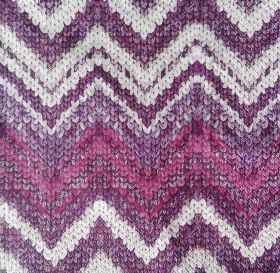 Салфетка Knitted Chevron berry
